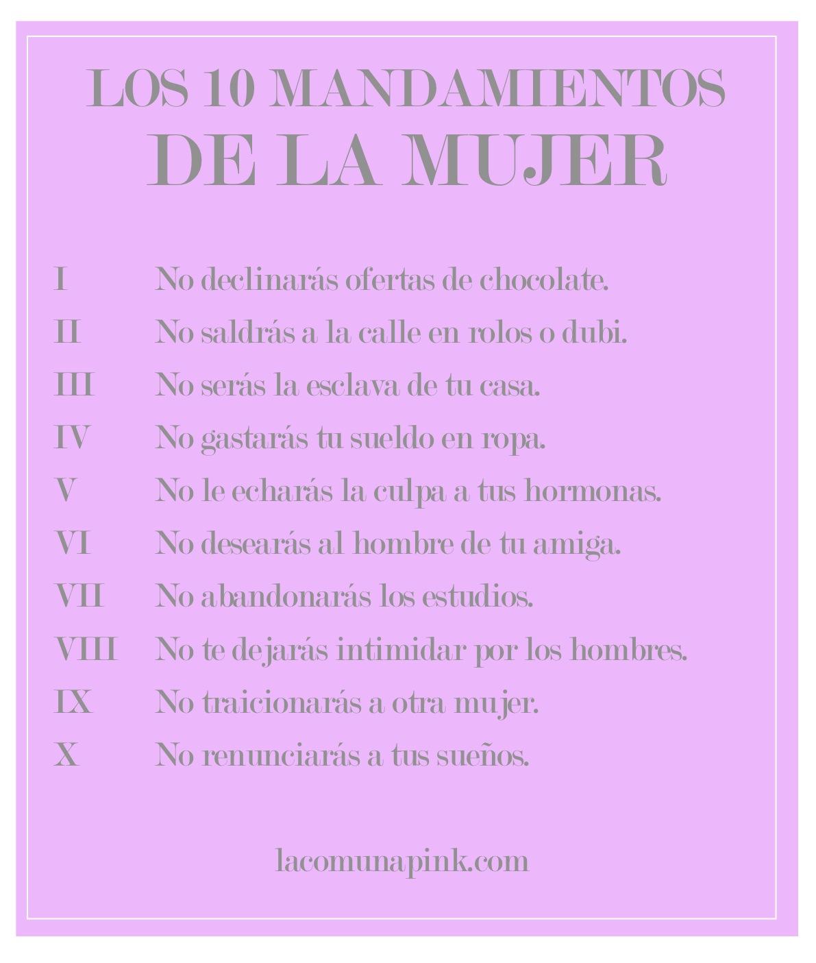 Los diez mandamientos de la sanacion new style for 2016 2017 - Los 10 locos mandamientos ...
