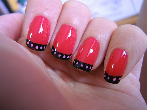 Manicura francesa a todo color! | La Comuna Pink