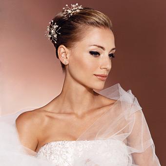 Un moño ideal para una boda de noche y de gala. En esos casos se ...