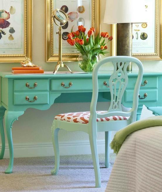 Decoraci n para el hogar habitaciones turquesa la Recamaras estilo vintage