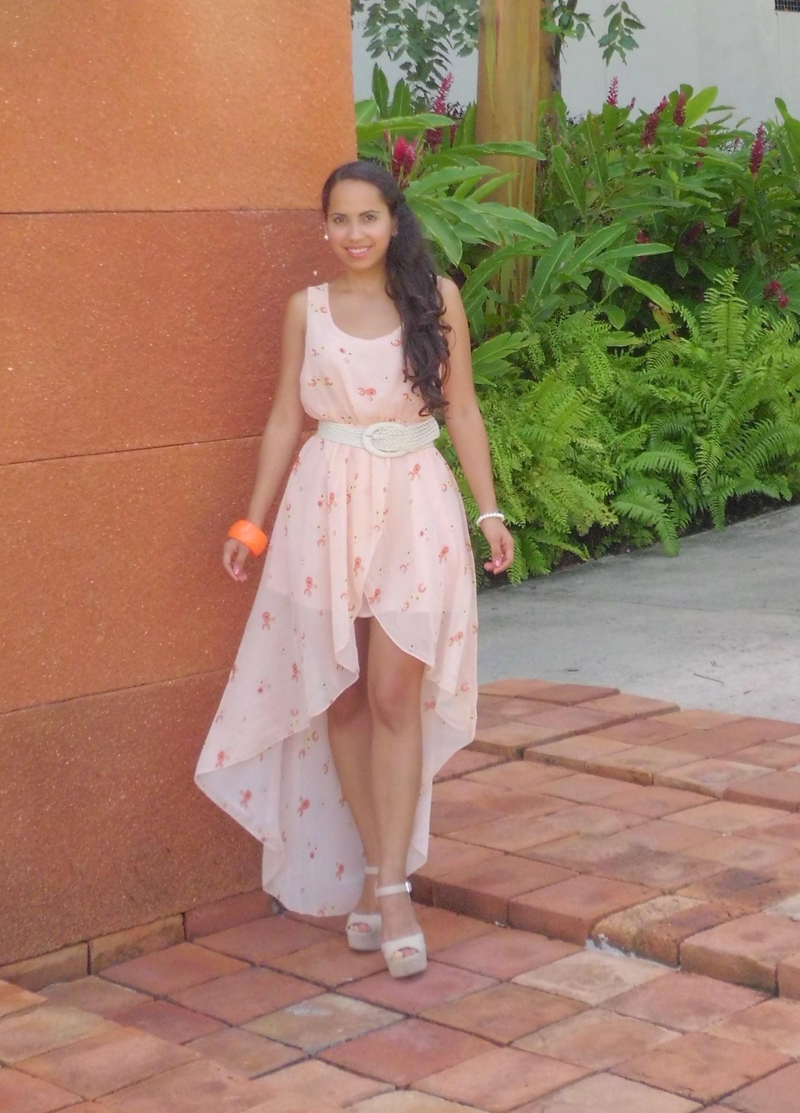 Look Del Día Vestido High Low La Comuna Pink