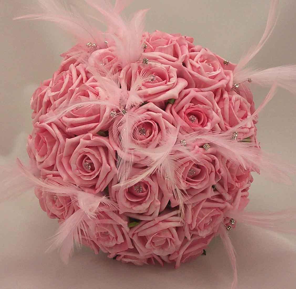 Ramos fabulosos para las novias la comuna pink for Red wedding flower ideas