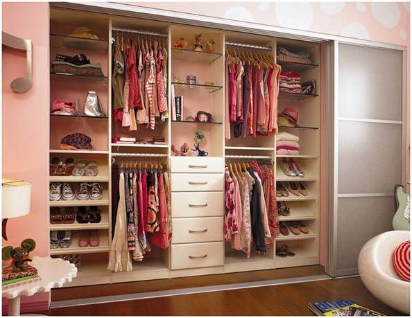Cl sets de ensue o la comuna pink for Walking closet modernos pequenos
