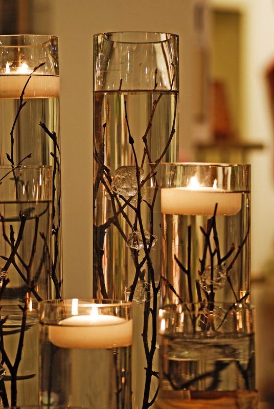 Candle Centerpieces with Water