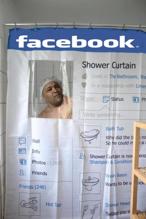 Una manera muy divertida de decorar el cuarto de baño.