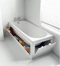 La tina de baño es también un excelente lugar para esconder nuestras pertenencias.