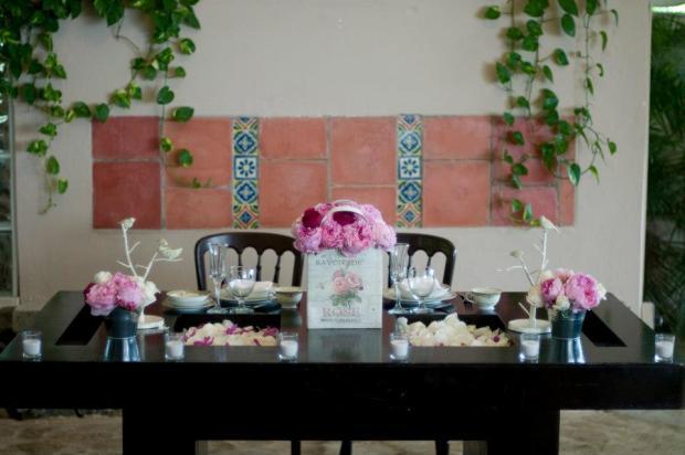 La mesa de los novios.