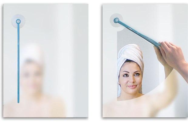¿Odias tener los cristales empañados luego de darte una ducha caliente? Este escurridor te ayudará a ver tu reflejo en el espejo en solo unos segundos.