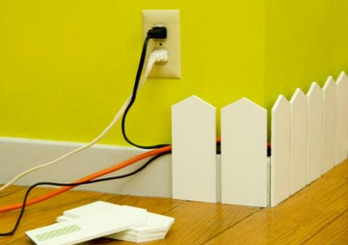Crea una linda cerca en esa pared que tienes con todos los aparatos. Solo necesitas crear las láminas con un poco de madera o piezas en acrílico.