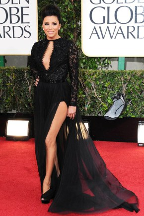 eva-longoria-in-a-bespoke-emilio-pucci-black-gown-with-thigh-high-slit-and-lace-bodice