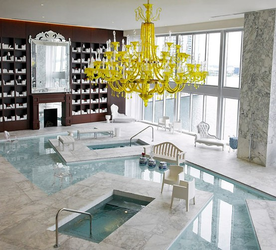 yellow-chendelier-in-pool-room