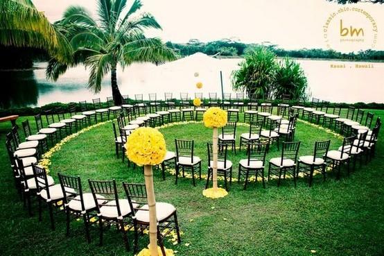 Esta forma espiral es ideal para ceremonias con pocos invitados.
