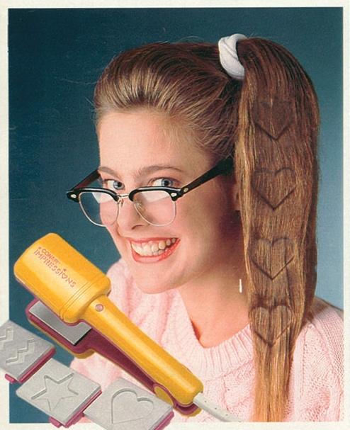 La única impresión que este cabello es capaz de dejar es la de que quien lo usa es una demente y tiene el gusto en la porra.