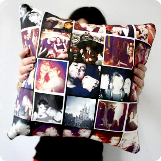 Accede a stitchtagram para crear artículos decorativos como almohadas y cojines con tus fotos preferidas.